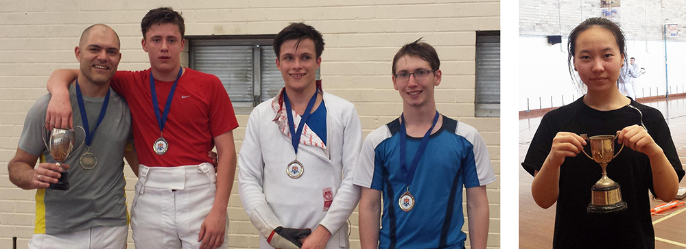 Photos of 2016 SUFC Sabre Championships medallists