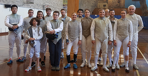 Photo of all competitors in 2016 Handicap Foil