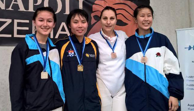 Open Women's Foil podium