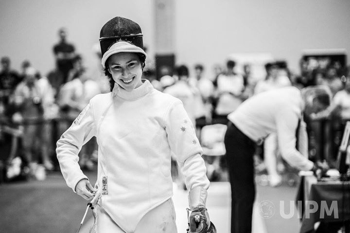 Marina Carrier at Modern Pentathlon Junior World Championships