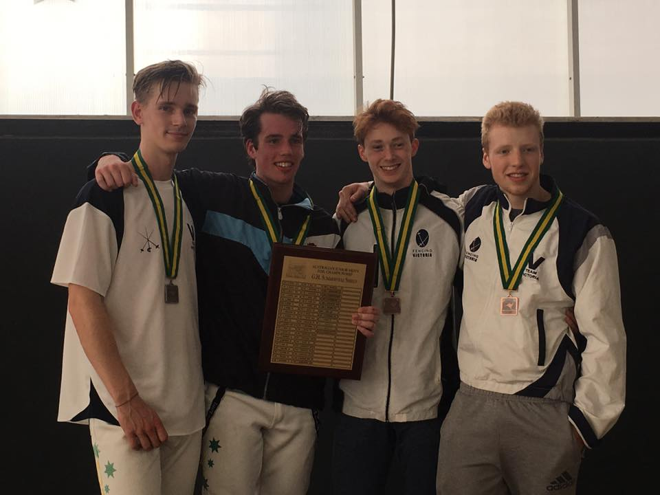 Podium photo - Men's Foil Junior Nationals