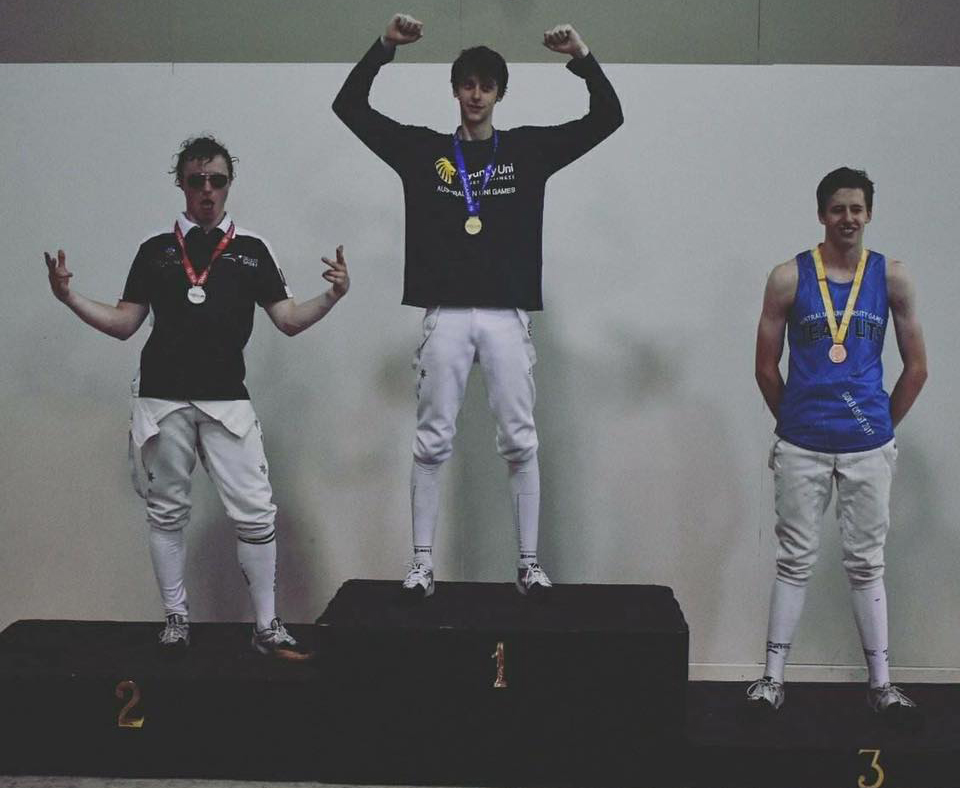 Podium photo - Men's Sabre