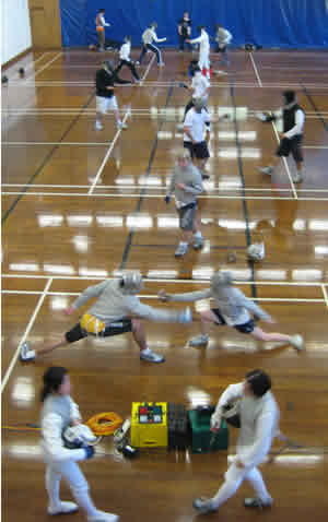 Photo of fencing club training